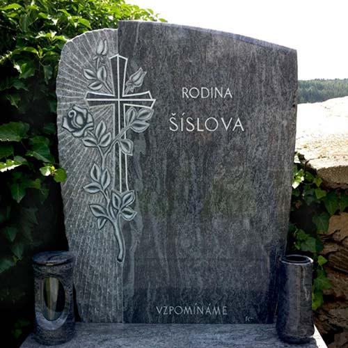 Náhled Pomník, jednohrob, kříž, růže
