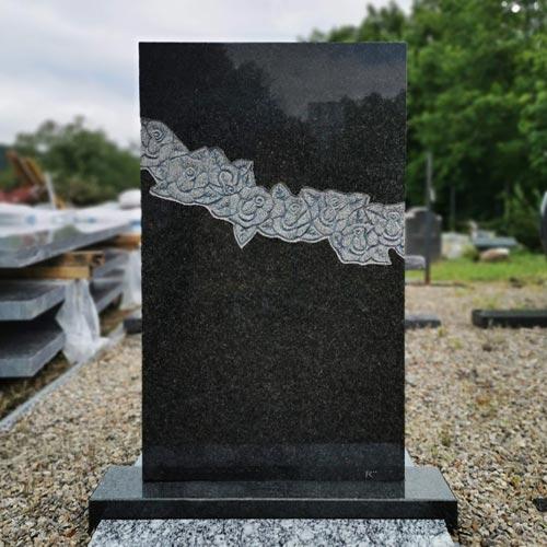 Náhled Jednoduchý náhrobní kámen pro jednohrob