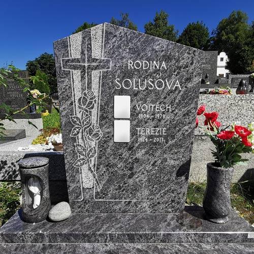 Náhled Pomník kříž s růží Volary