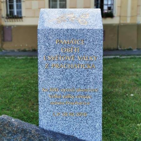Zhotovení a stavba nového památníku v Prachaticích