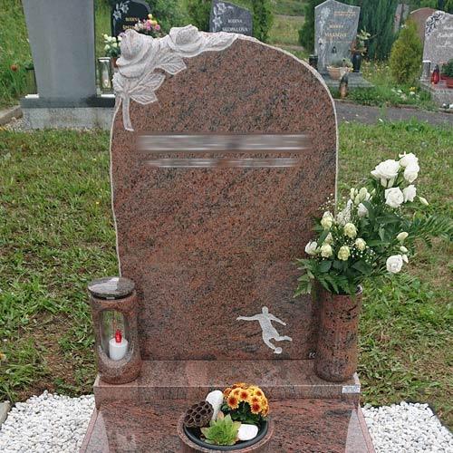 Pomník pro fotbalistu